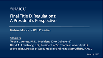 Title IX Webinar - May 2020